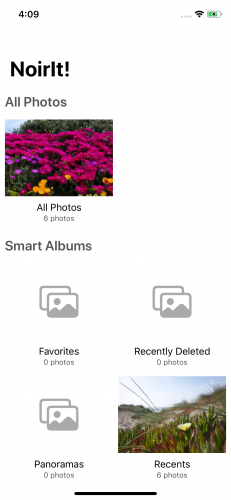 The album view with cover images.