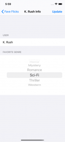 Favorite Genre Picker