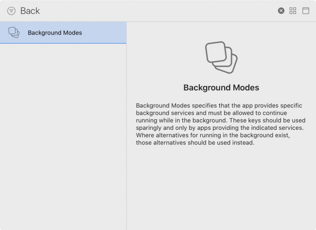 Adding background modes to your PlaceTag Xcode project setup