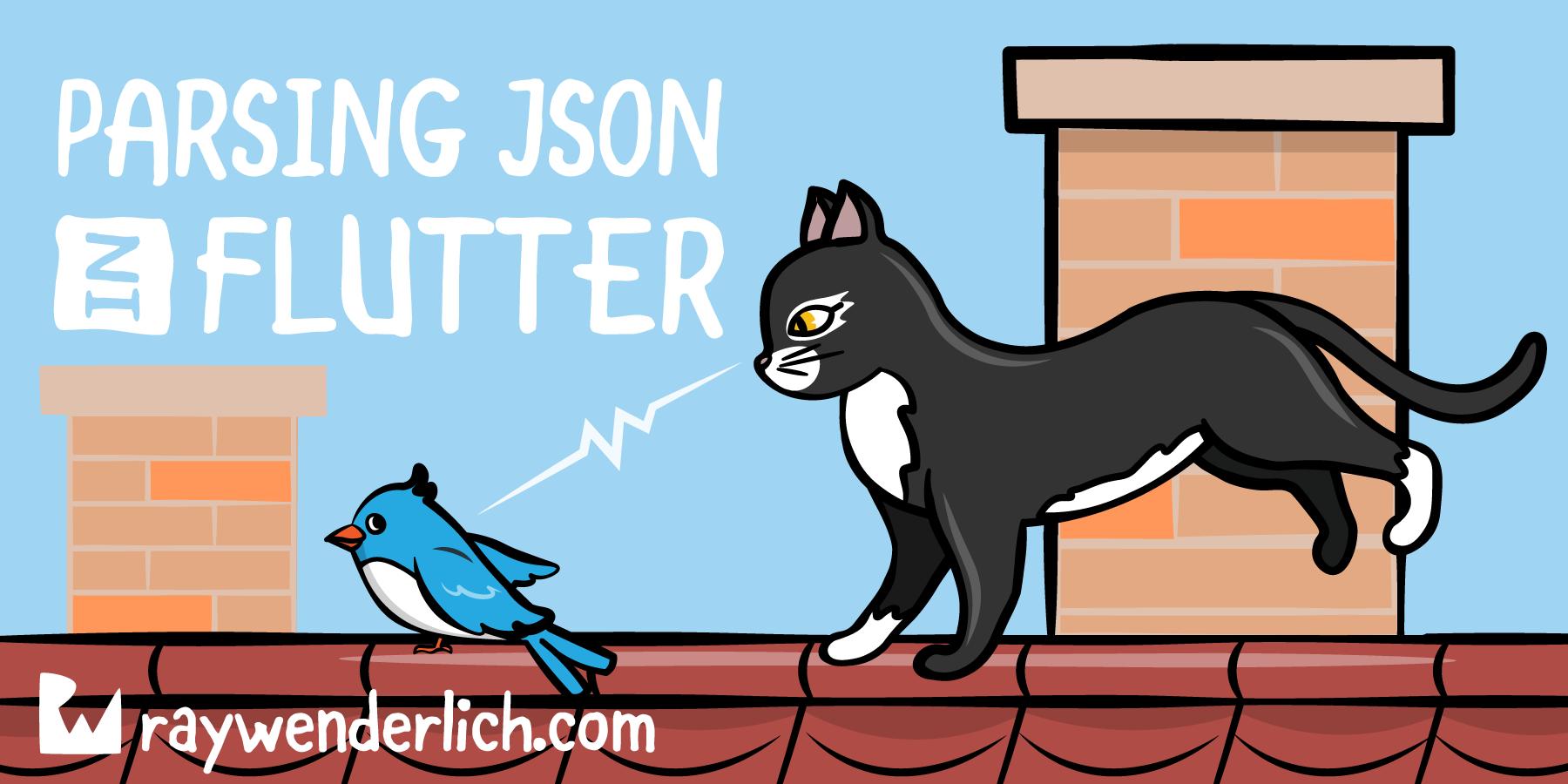 Parsing JSON in Flutter   raywenderlich com