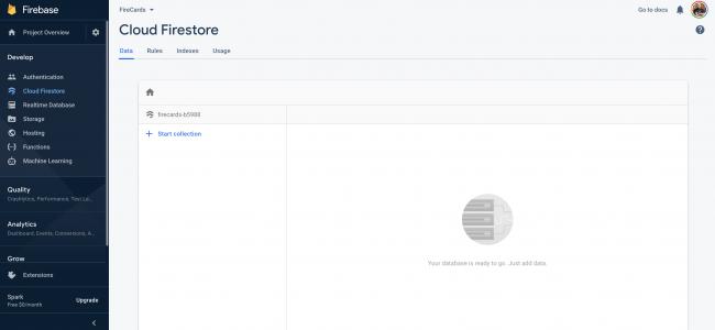 Firebase - Database Dashboard