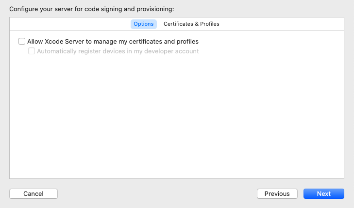 Options for Signing and provisioning