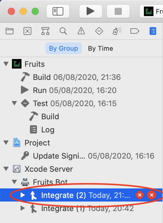 Select recent run integration