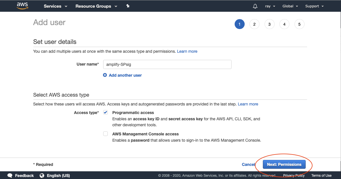 Configuring IAM in the AWS Console