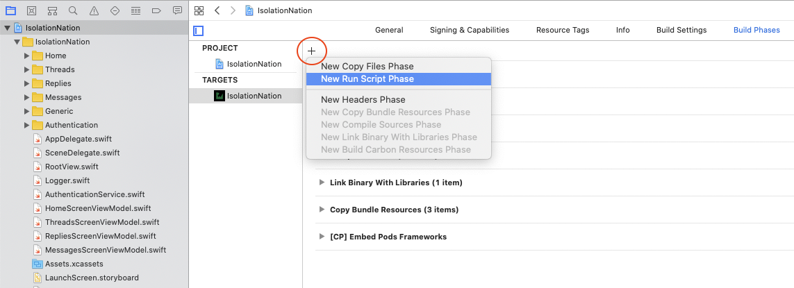 Adding a Run Phase for Amplify Tools