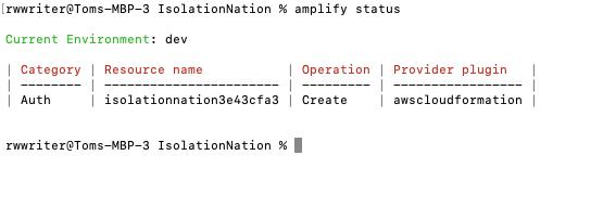 Checking Amplify Status
