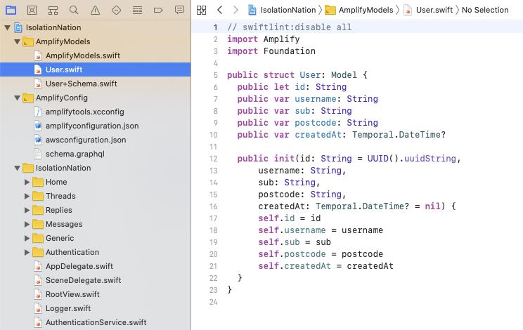 Swift generated models