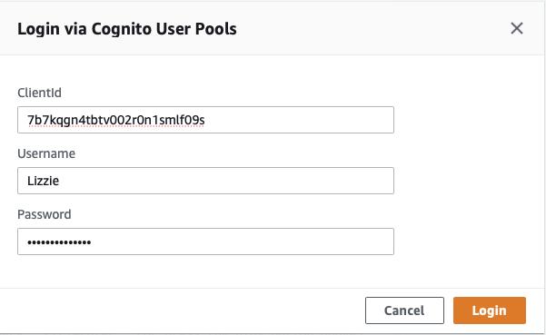 Login to your GraphQL API