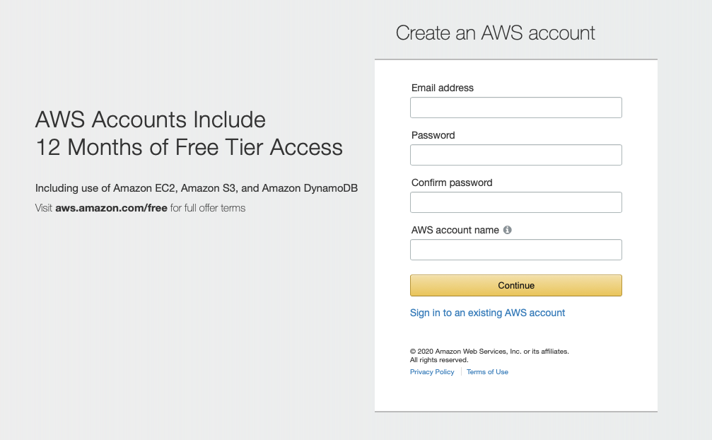 Creating an AWS Account