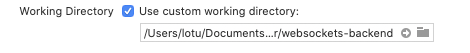 Répertoire de travail personnalisé