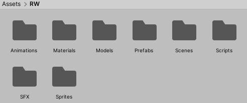 List of folders in RW