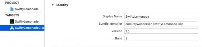 SwiftyLemonade bundle identifier