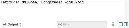 Latitude and longitude in console