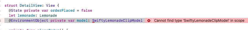 Cannot find type 'SwiftyLemonadeClipModel' in scope