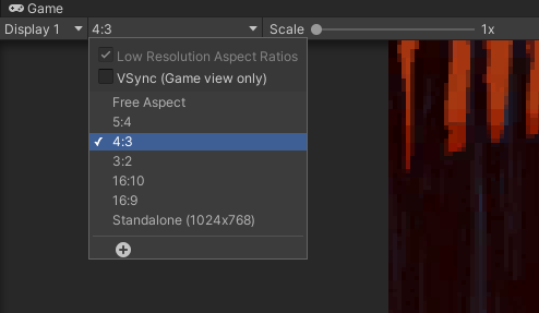 Setting the Game View's aspect ratio