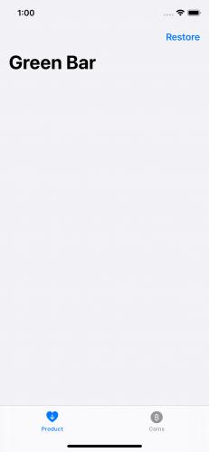 GreenBar app Products tab
