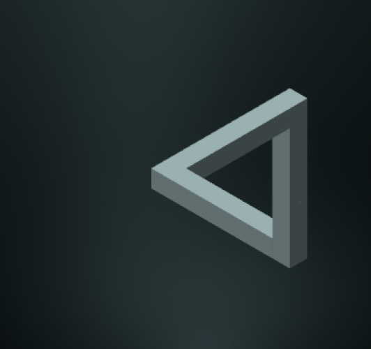 Penrose triangle complete