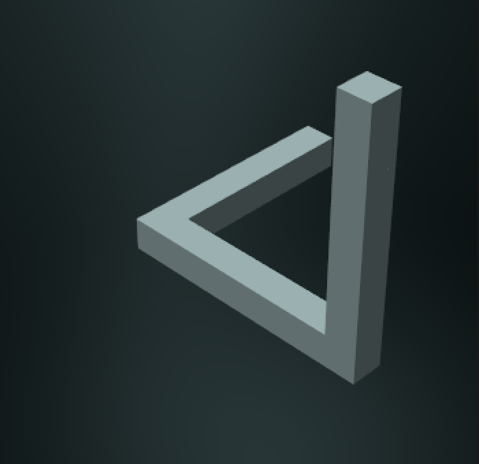Penrose triangle perspective camera