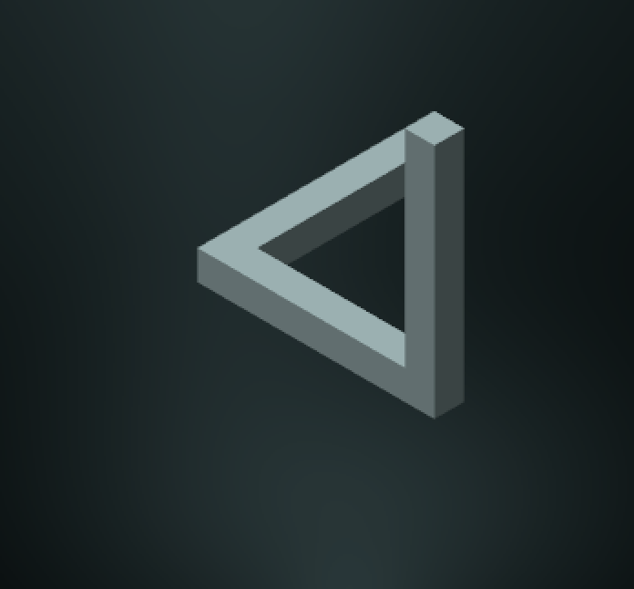 Penrose triangle orthogonal camera