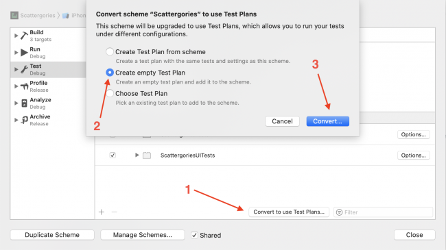 Creating a test plan