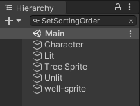 Hierarchy filtered for SetSortingOrder component