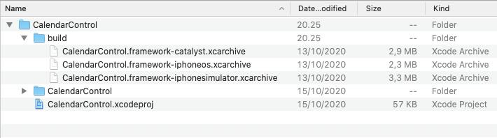 Archive list