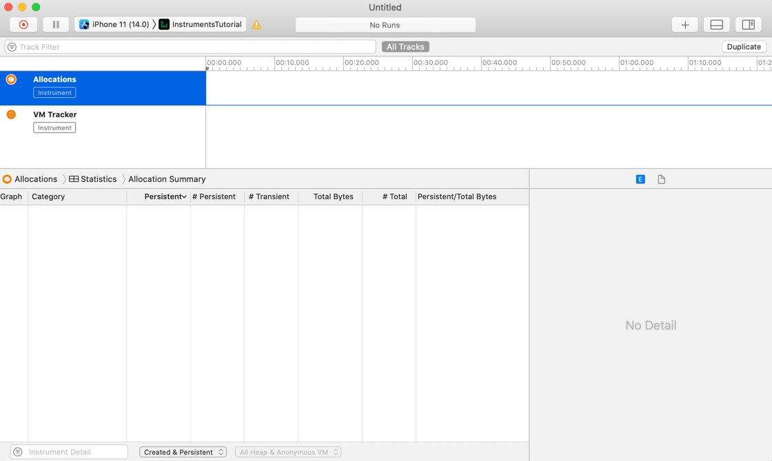 Allocations xcode tutorial instruments Xcode Instruments