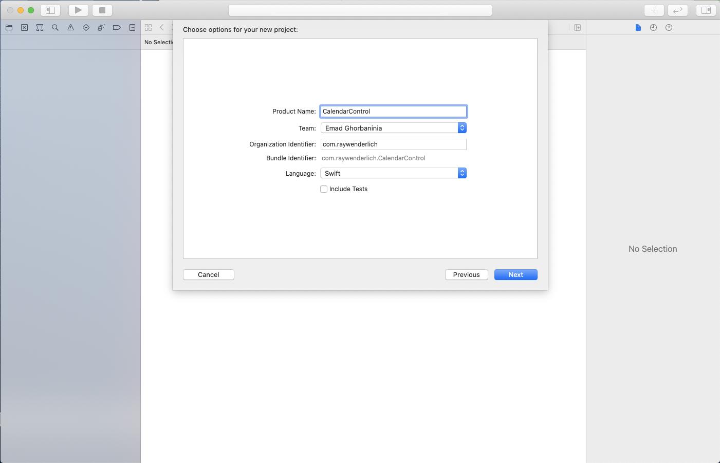 Framework configuration dialog