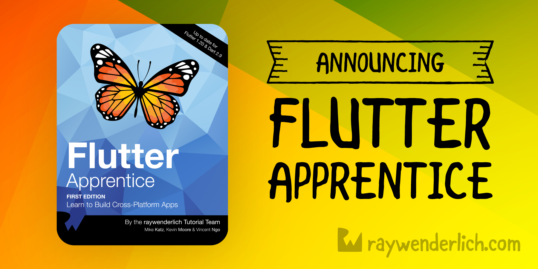 Announcing our Newest Book: Flutter Apprentice! [FREE]