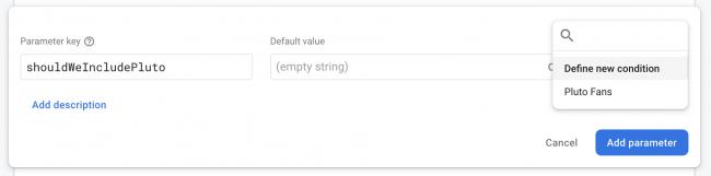 Condition dialog box