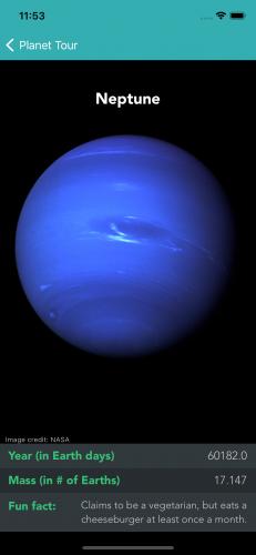 PlanetTour Neptune screen