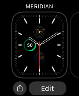 watch face editing mode
