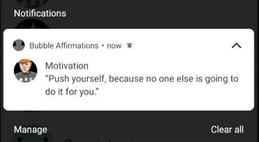 Notification in person style, but not Conversations section.
