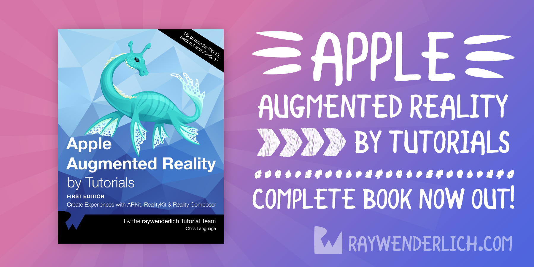 Apple Augmented Reality by Tutorials: Complete Book Now Available! [FREE]