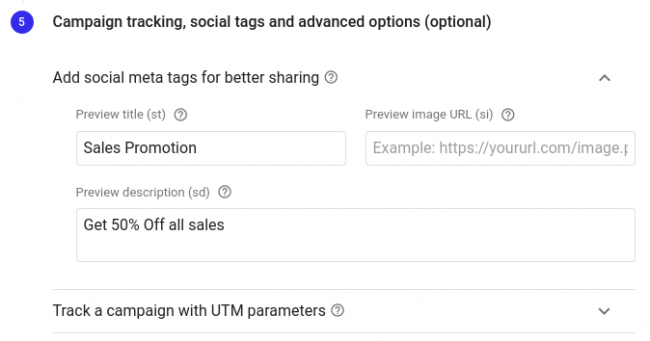 Setting up Dynamic Links Campaign