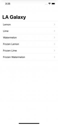 LA Galaxy lemonade menu