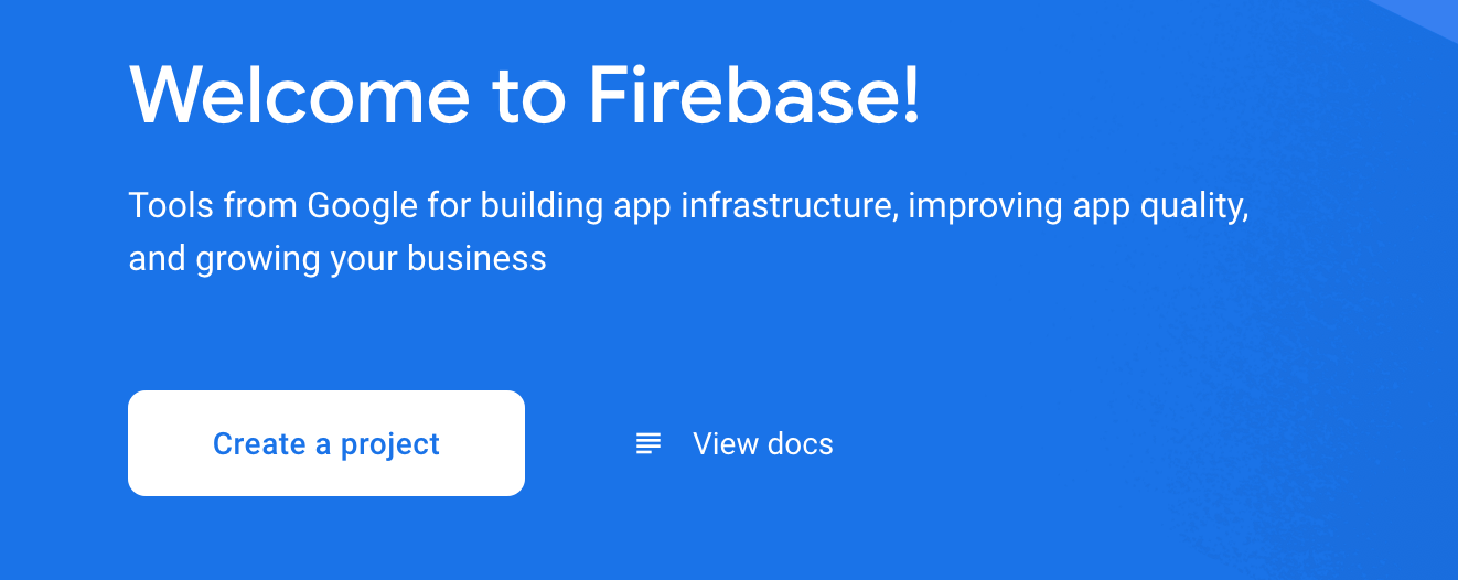 Welcome to Firebase page