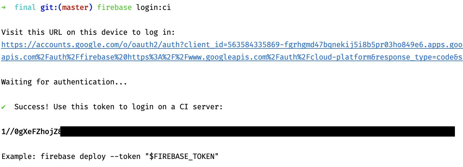 Firebase CLI login token