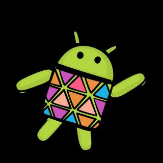 Android robot dances.