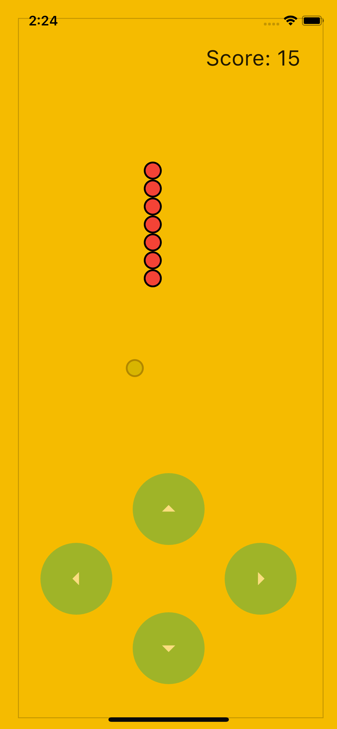 The final Snake Game with score