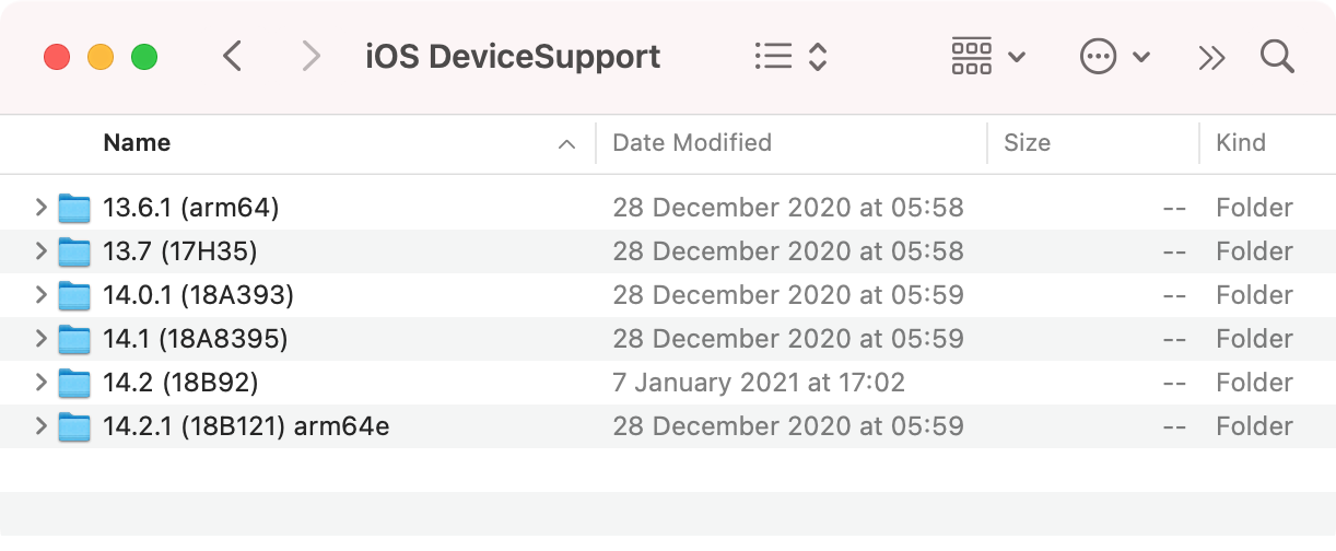 iOS DeviceSupport
