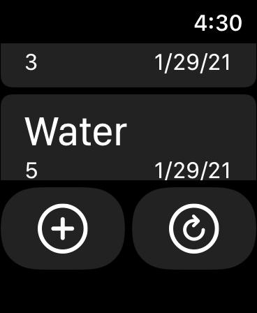 Hydrate Me app Watch List