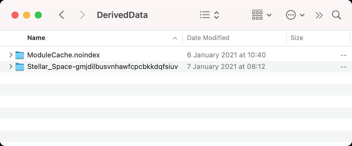 Derived data folder