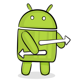 Android passing data back and forth with arrows.