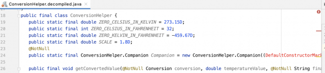 Decompiled ConversionHelper.