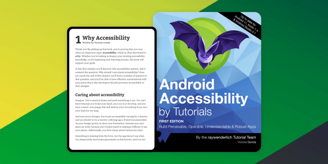 Android Accessibility by Tutorials book cover