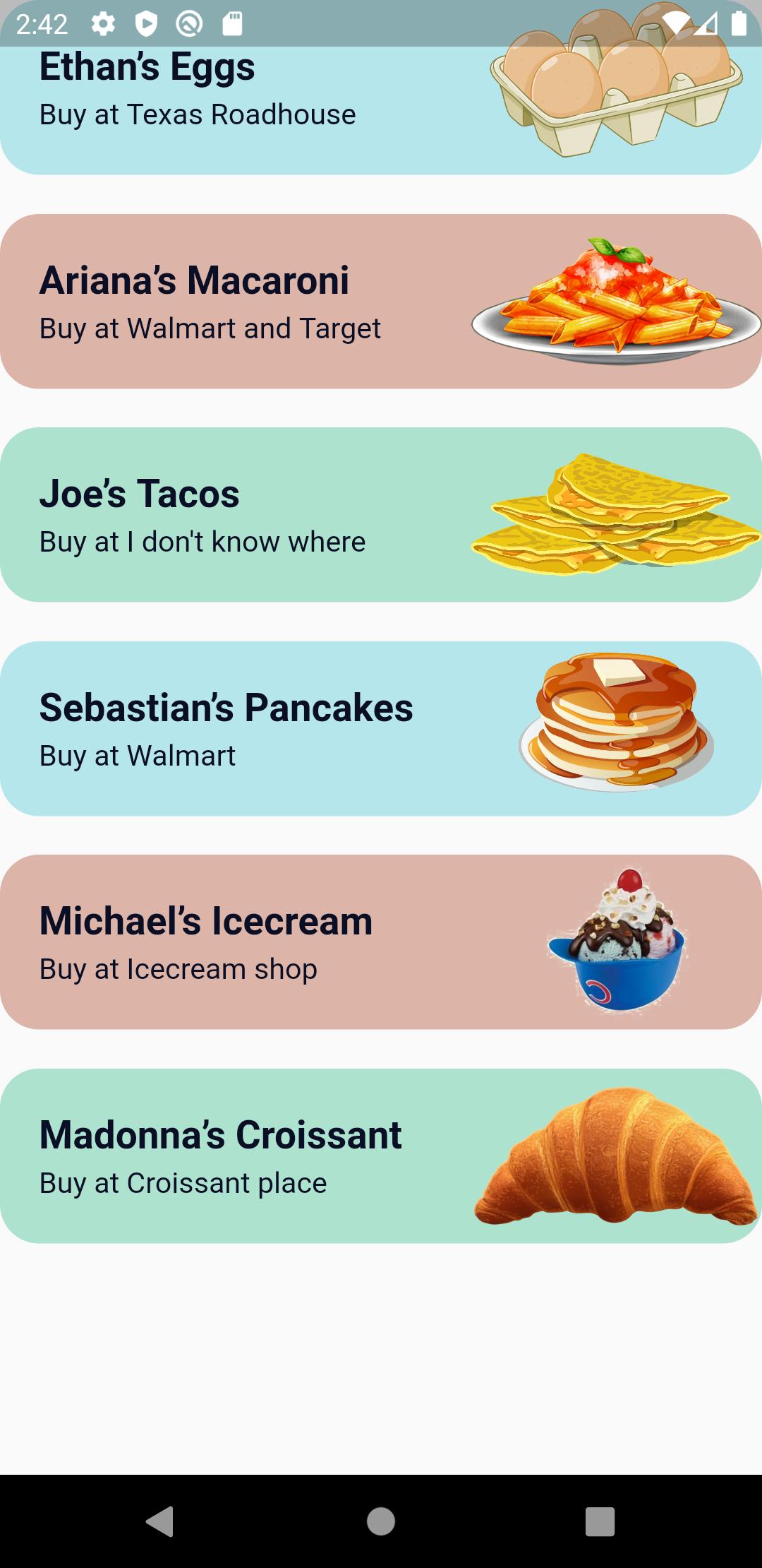 Recipe List Page _1