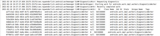 Diagnostic Worker Information