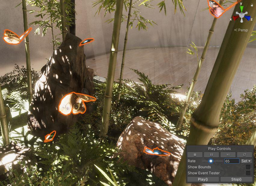 SampleScene Butterflies