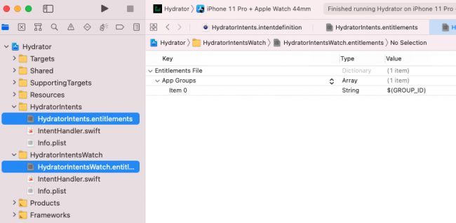 Adding group ID to the entitlements files